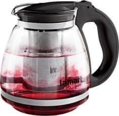 Lamart Sklenená čajová kanvica 1,5 l čierna