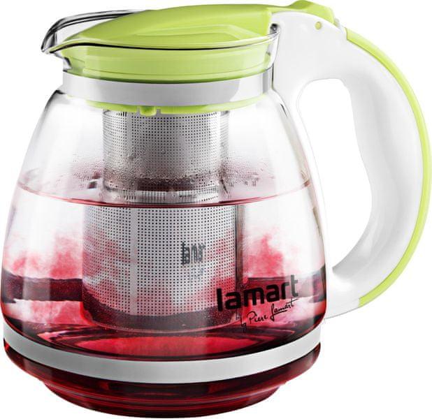 Lamart Skleněná čajová konvice 1,5 l zelená