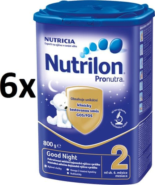 Nutrilon 2 Pronutra Good Night - 6 x 800g