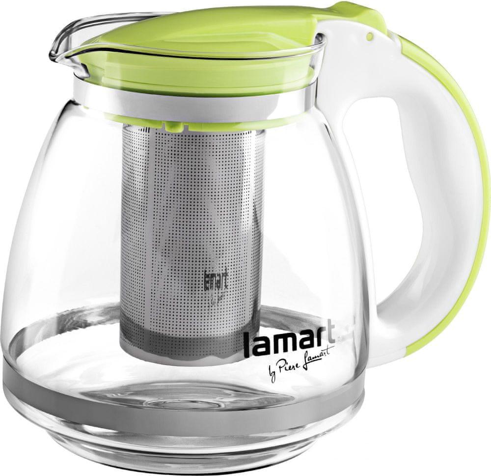 Lamart Skleněná čajová konvice 1,5 l zelená - rozbaleno