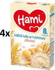 Hami Kaše mléčná s piškoty - 4x225g