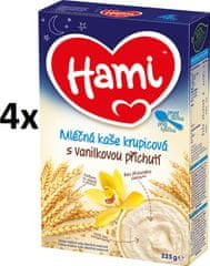 Hami kaše na Dobrou noc krupicová s vanilkovou příchutí  4 x 225g