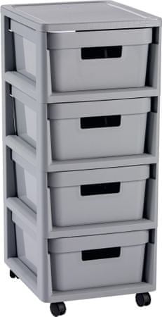 Curver Infinity skříňka 4x 11 l šedá