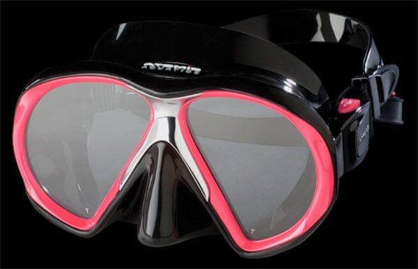ATOMIC AQUATICS Maska Atomic SUBFRAME, potápěčské brýle, černá/růžová