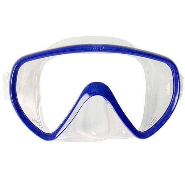 TUSA Maska CONCERO typ Frameless TUSA, trans./modrý rám
