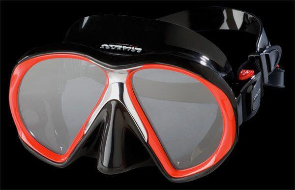 ATOMIC AQUATICS Maska Atomic SUBFRAME, potápěčské brýle, černá/červená