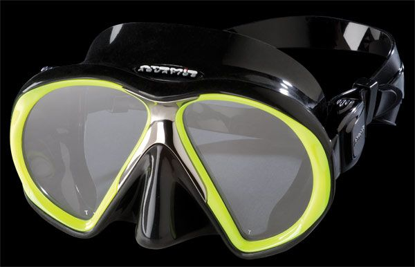 ATOMIC AQUATICS Maska Atomic SUBFRAME, potápěčské brýle, černá/žlutá