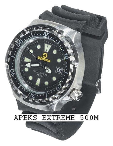 APEKS Hodinky PROFESSIONAL Extreme 500M, Apeks, černá luneta