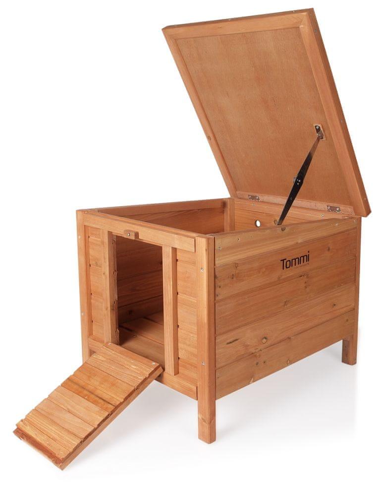 Tommi Dřevěná domek pro králíky Perino 42x51x43cm