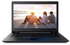 Lenovo prenosnik IdeaPad 110 A6-7310/4GB/128GB/17/HD+/W10, črn