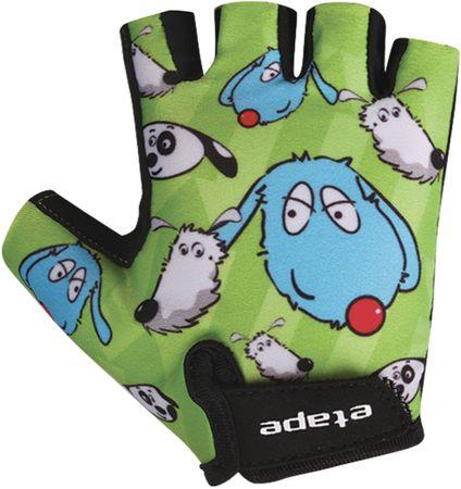 Etape dziecięce rękawiczki rowerowe Tiny, zielone 5-6