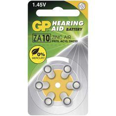GP baterija za slušne aparate ZA10, 6 kosov