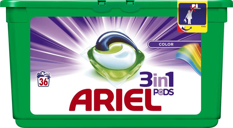 Ariel Color 3v1 gelové kapsle 36 ks