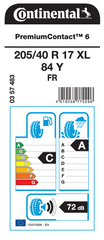 Continental pneumatik PremiumContact 6 205/40R17 84Y XL FR