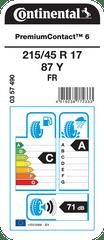 Continental pneumatik PremiumContact 6 215/45R17 87Y FR