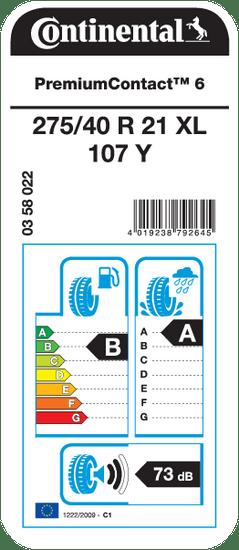 Continental auto guma PremiumContact 6 275/40R21 107Y XL