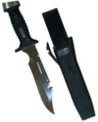 SOPRASSUB Nůž SHARK M, Sopras sub, černý/teflonová čepel