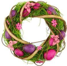 Seizis Velikonočni venec iz olupljenega lubja, vijoličen