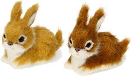 Seizis dekorativni rjavi zajček, 2 kosa
