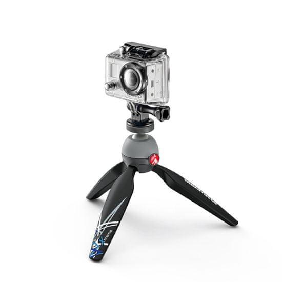 Manfrotto Pixi Extreme Mini stojalo, GoPro Mount (MKPIXIEX-BK)