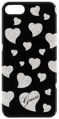 Guess Kryt Hearts TPU (Apple iPhone 7), černá