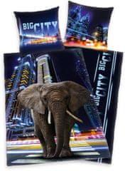 Herding bombažna posteljnina Big City Elephant