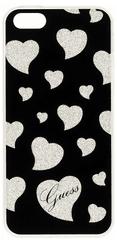 Guess Kryt Hearts TPU (Apple iPhone 5/5S/SE), černá