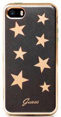 Guess Kryt Stars Soft TPU (Apple iPhone 5/5S/SE), černá