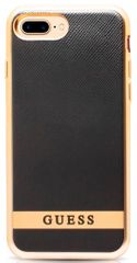 Guess Kryt Classic Soft TPU (Apple iPhone 7 Plus),černá/zlato