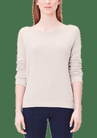 s.Oliver sweter damski 38 kremowy