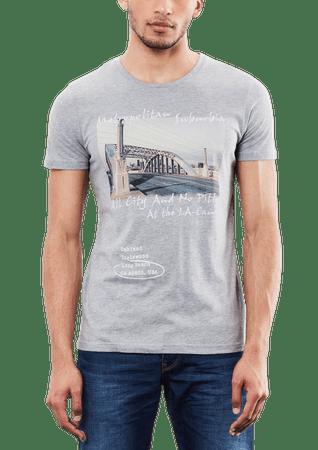 s.Oliver pánské tričko L sivá