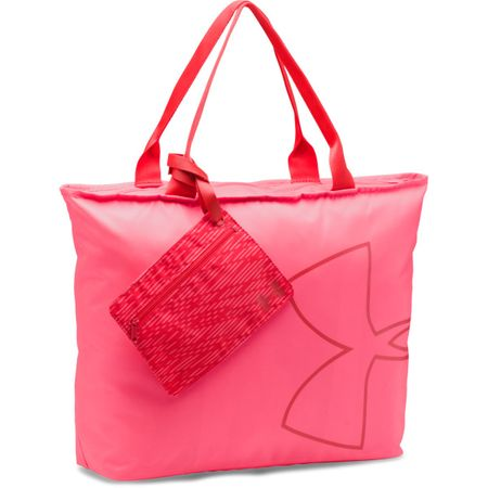 Under Armour Big Logo Tote Pink Shock Pomegranate Pomegranate