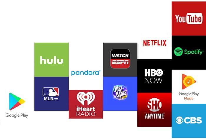 aplikace pro TV, filmy, rádio