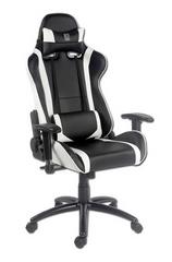 LC Power stol Gaming LC-GC-2, črn/bel