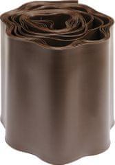 Flo obrzeże trawnikowe brązowe 9m x 15cm (88704)