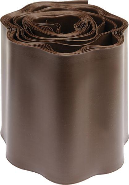 Flo Lem trávníku 15x900 cm hnědý (88704)