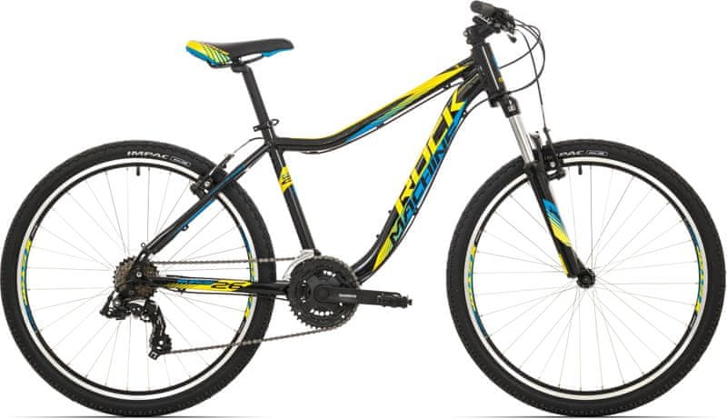 "Rock Machine 26"" Surge 26 black/yellow/blue 2017 16,5"""