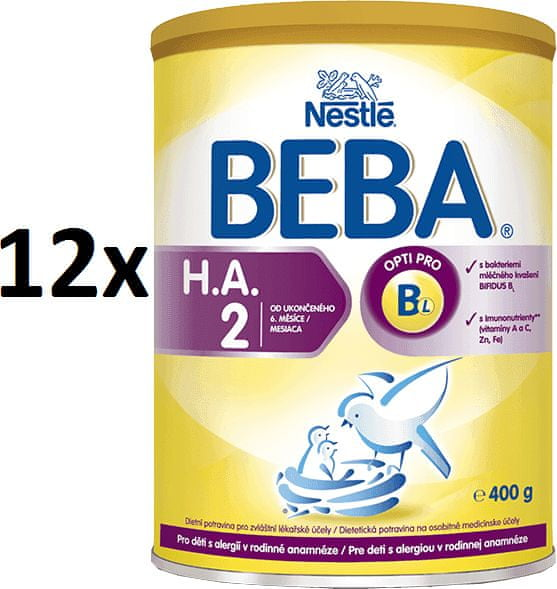Nestlé BEBA HA 2 - 12x400 g