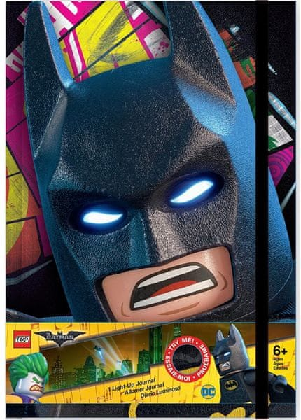 LEGO® Batman Movie Zápisník - Batman LED
