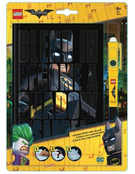 LEGO® Batman Movie Zápisník s neviditelným perem - Batman