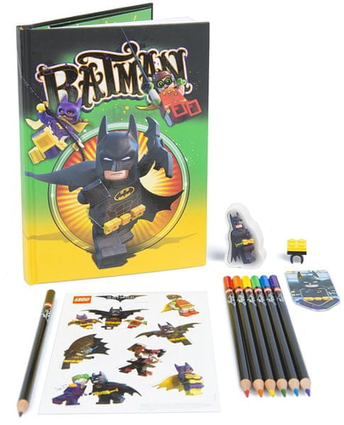 LEGO® Batman Movie Stationery set se zápisníkem