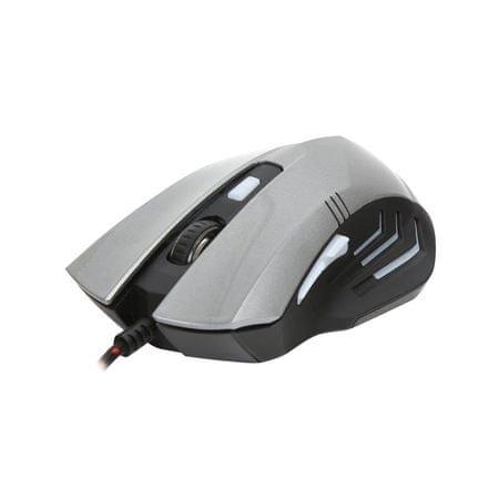 Omega Gaming miška VARR OM-267 3200 DPI, 6D, siva
