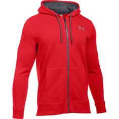 Under Armour moška jopa Storm Rival Cotton Full Zip, rdeča