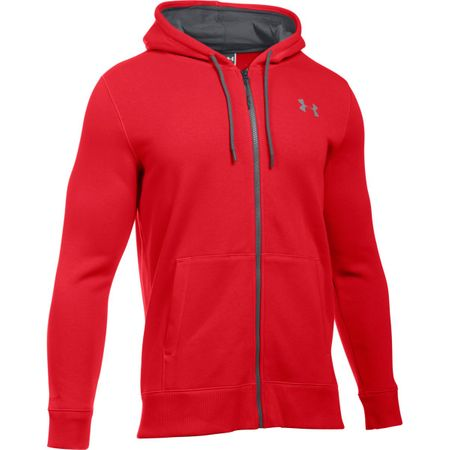 Under Armour moška jopa Storm Rival Cotton Full Zip, rdeča, M