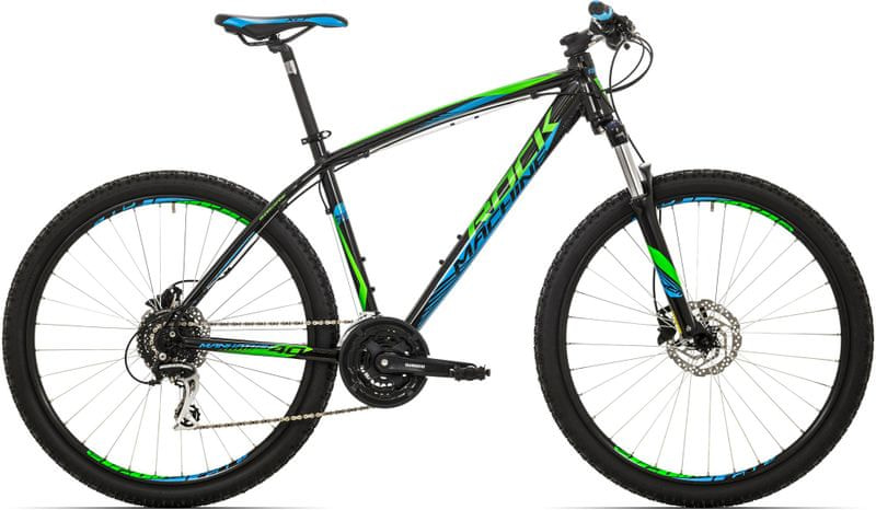 "Rock Machine 27,5"" Manhattan 90 black/neon green/blue 2017 21,5"""