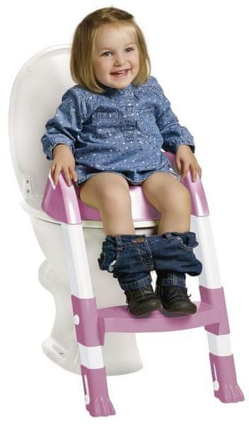 ThermoBaby Židlička na WC Kiddyloo, Růžová