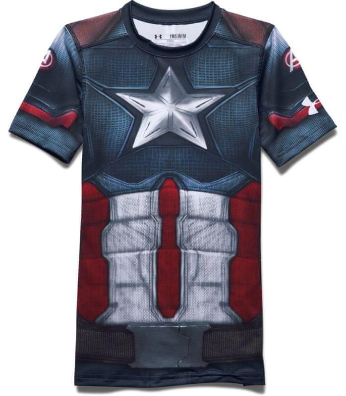 ... L 5 - Under Armour Captain America Suit SS Gyermek póló 7f6f5639c9