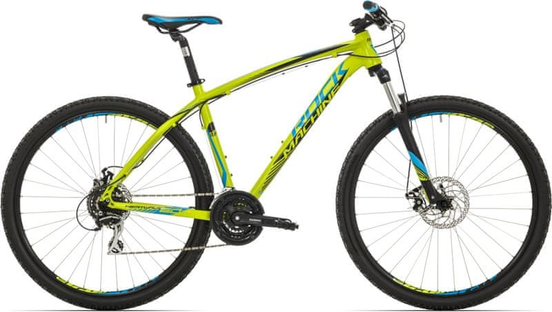 Rock Machine 29er Heatwave 60 radioactive yellow/blue/black 2017 19""