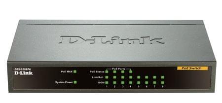 D-Link 8-portno PoE stikalo DES-1008PA