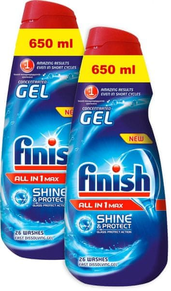 Finish Gell All in 1 Shine & Protect 2x 650 ml